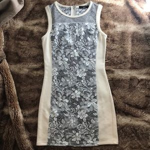 White and grey sanctuary dress